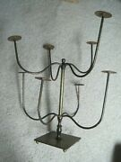 Fab Vtg English Haberdashery Solid Brass Countertop Hat Display Dept Store Stand
