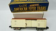 American Flyer = 633 Brown And White Box Car With Box - Box Is Poor