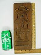 Vintage Carved Wooden Dutch Windmill Cookie Mold Chocolate Mold Candy Mold 12x4