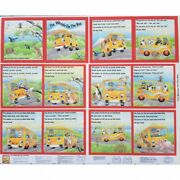 Fabric Book Panel - The Wheels On The Bus Story Book To Make - Fabrics4u2