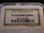 1991-1995-w Wwii Commemorative Gold 5 Ngc Pf70 Ultra Cameo