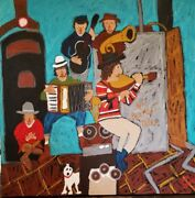 John Sperry Southern Primitive Musician Folk Art Painting The Basement Tapes