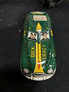 Vintage Marx Dick Tracy Tin Metal Friction Police Car Great Condition Minty