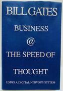 Bill Gates Signed Autograph 1st Ed Book Business @ The Speed Of Thought Jsa