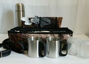 Camouflaged Soft Sided Lunch Box 6 Piece W/ Thermos New Hunting Fishing Kit Gift