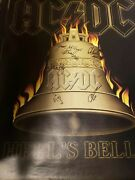 Acdc Autographed Concert Poster.signed By All 5...jsa Cert