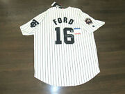 Whitey Ford Hof 74 Binghamton Triplets Yankees Signed Auto Russell Jersey Psa