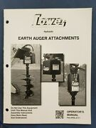 Lowe - Hydraulic Earth Auger Attachments - Operator's Manual - Part Ral 0111 I