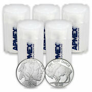 1 Oz Silver Round - Buffalo Lot Of 100 Rounds .999 Fine Silver