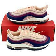 Nike Air Max 97 Plum Chalk Womenand039s Size 8 Shoes Pink Navy Blue 921733 802