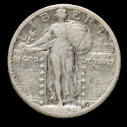 1923 S Silver Standing Liberty 25c Key Date Circulated Very Fine 2185 Free S/h
