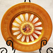 Orchard Gold By Aynsley Dinner Plate10.5 New Never Used Made England 24kt Gold