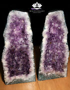 17.5 Amethyst Crystal Geode Cluster Cathedral Pair - 50.75 Pounds - Free Ship