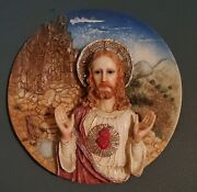 Suanti Jesus Figure 3d Plate Collectible Home Decoration Christmas Gift