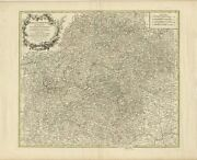 Antique Map Of The Circle Of Franconia By Vaugondy 1757
