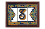 15cm X 7.5cm Ceramic Sandy Spanish House Numbers And Letters Tiles