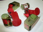 1974-1977 Corvette Coupe Nos Red 2 Retractor Seat Belts Without Buckles