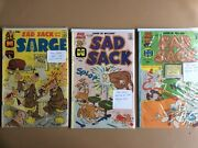 Sad Sack And The Sarge By Harvey Comic Books Lot Of 3