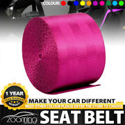 Rose Red Racing Front 3 Point Safety Retractable Van Car Seat Lap Belt Universal