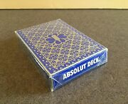 Original Sealed Absolut Deck Playing Cards Vodka Recipes Perfect With Any Hand