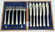 Antique Chinese Export Sincere And Co. Sterling Individual Fish Knife And Fork 12 Pc