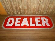 Vintage Western Auto Dealer Sign Double Sided Plastic Advertizing Store Gas Oil