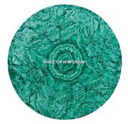 36 Green Marble Corner Dining Table Top Inlay Real Malachite Home Decor H5290
