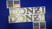 Donzi Boats Emblems 31 Gold + Free Fast Delivery Dhl Express - Raised Decals
