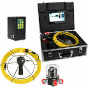 9 Lcd Pipe Inspection Pipeline 50m Drain Sewer Waterproof Camera 360° Rotating