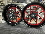 Hayabusa Stock Size Black - Red Centers Switchback Wheel Package 1999-2007 Busa