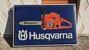 Husqvarna Chainsaw Illuminated Dealer Sign 4and039 X 6and039