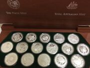 2000 16 X 1oz Sydney Olympic Silver Coin Set - The Perth Mint And Royal Aust Mint