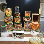 Retired Lemax Spooky Town Assorted Castles Figures And Accessories