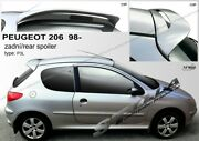 Spoiler Rear Roof Tailgate Peugeot 206 206+ Hatchback Wing Accessories
