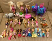Lot Barbie Small Dolls Sisters Clothes 25+ Toy Elephant Horse Mermaid Sofa