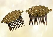 Vintage Miriam Haskell Set Of Two Hair Clips