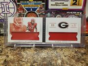 🔥todd Gurley Rare Nt Rookie Dual Jumbo Patch Booklet /25 Georgia Rams Falcons🔥
