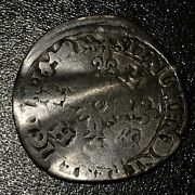 1549 France Douzain 12 Deniers Henry Ii Silver French Medieval Rare Coin