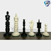 4.4 Camel Bone Chess Pieces Set-series Intricately Hand Carved Collector Set