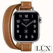 Hermes Apple Watch 40mm Attelage Double Tour Fauve Band Only Brand New Sold Out