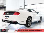 Awe Tuning Cat-back Exhaust - Touring Edition Quad Diamond Black Tips For 2018