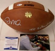 Joe Montana Hand Signed Official Notre Dame Leather Game Football 1977 Champ Bas
