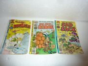 Vtg Lot Of 3 Sad Sack And The Sarge Comics And Richie Rich As Super Ritchie S-7