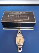 Ultra Rare 1932 Ingersoll Girl Scout Watch With Original Box Works Beautiful Set