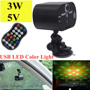 360 Anddeg Rotating Usb Car Roof Lamp 5v Night Light Rgb Color Remote Control Switch