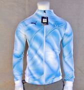 New Menand039s Marseille Stadium White Blue Full-zip Drycell Jacket Mhd-616