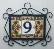 Spanish Chilli Hand-painted Ceramic Tiles For House Numbers Letters And Frames