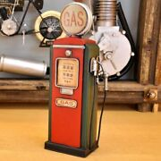 Tin Toy Figurine Classic Decoration Object Antique Gas Petrol⛽️pump Station Coin