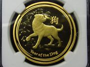 2018 Australia 100 Gold Year Of Dog Ngc Pf69 Ultra Cameo Early Release 001