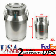 Sale 30l Milk Can Bucket Pail For Honey Juice With Sealed Lid Stainless Steel